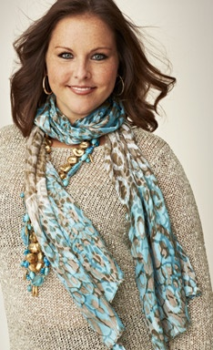 Sparkle sweater and scarf! Chico's