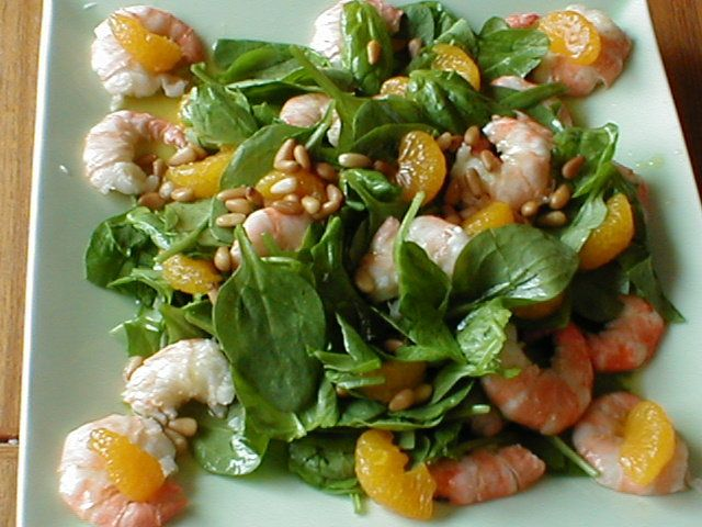 Asian Shrimp and Spinach Salad | Yum | Pinterest