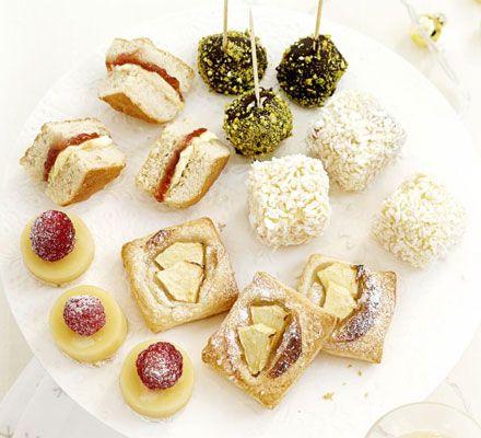 ... Mini choc ice balls, Cheat's lamingtons,Apple & marzipan tarts fa...