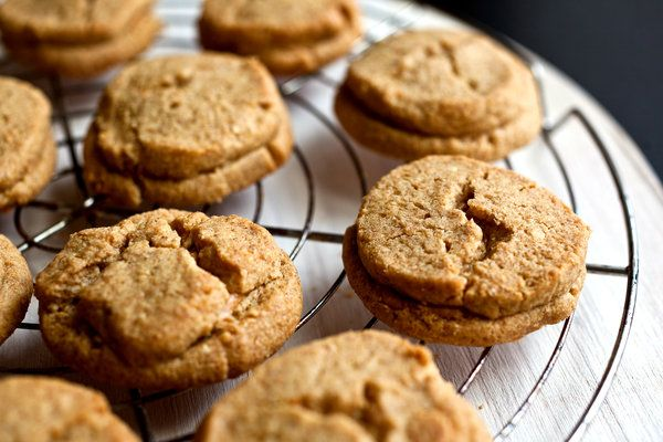 Crisp Peanut Butter Sandwich Cookies — Recipes for Health