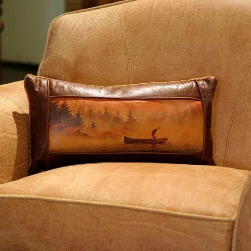 Fly Fishing Canoe Pillow