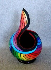 Art 3D Art Gourd Carved Gourd Hand Painted Original by ishigallery