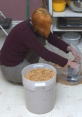 Storing food in buckets how-to