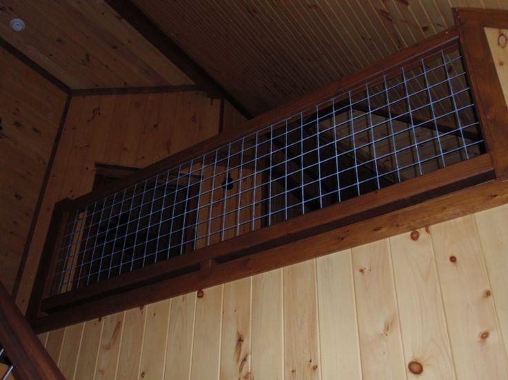 goat wire loft railing   Cottage Ideas   Pinterest