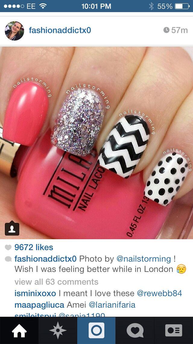 Cute nail design | shellac nails | Pinterest