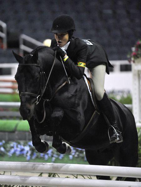 Black horses jumping - photo#11