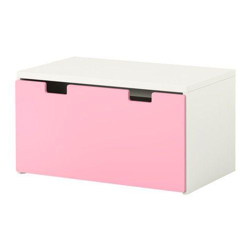 stuva storage bench white pink. Black Bedroom Furniture Sets. Home Design Ideas