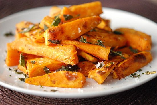 Sweet Potato Fries with Garlic & Fried Sage | Fresh Tart by Stephanie ...