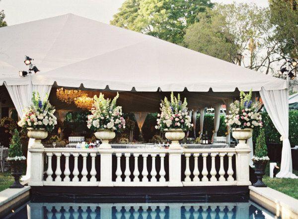Tent Wedding In Backyard : Backyards