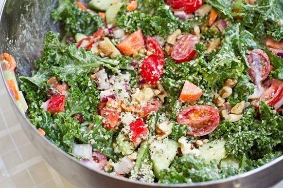 Weekend Glow Kale Salad | YUM! | Pinterest