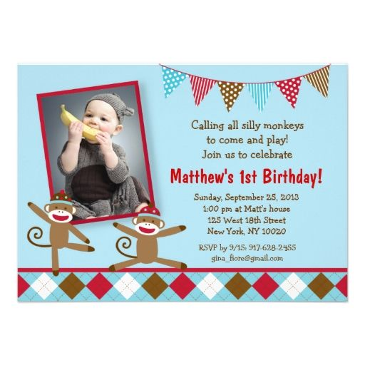 Sock Monkey Birthday Invitations is one of our best ideas you might choose for invitation design