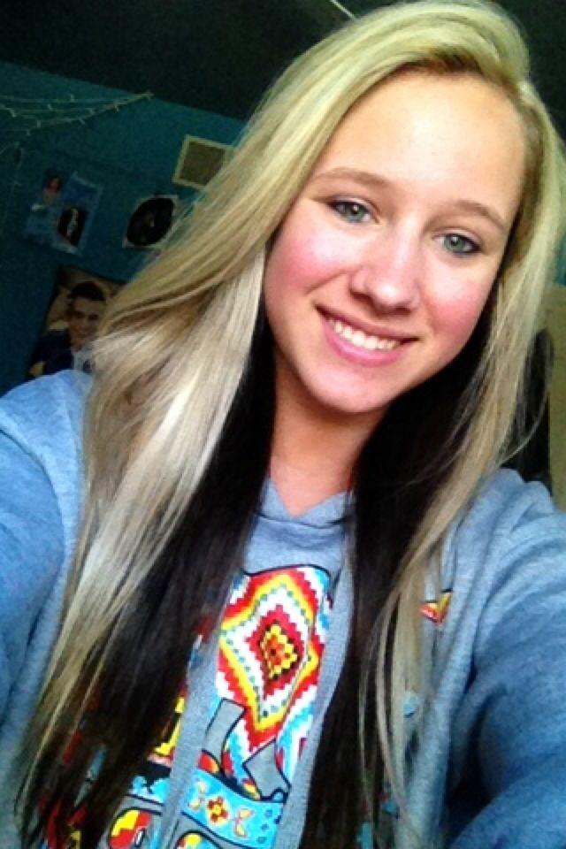 blonde hair with dark brown underneath hair