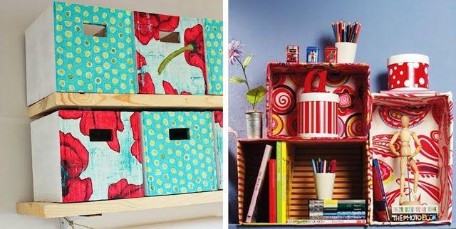 Criativo e simples: Como reciclar e decorar caixas de papelão