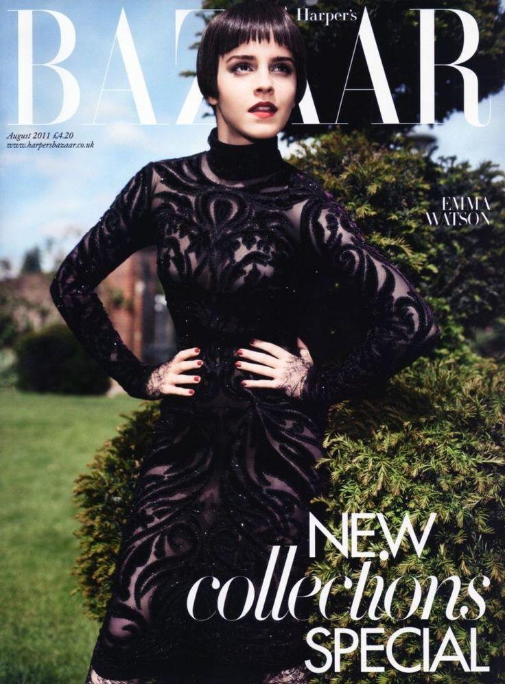 Emma watson magazine covers harper s bazaar pinterest