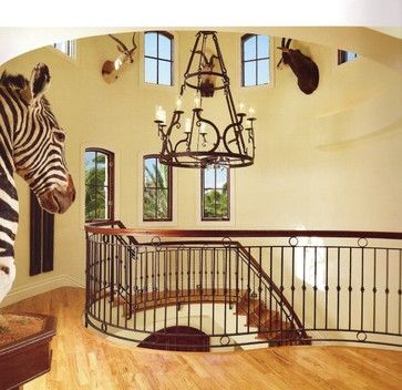 Animal house eclectic staircase miami tuthill architecture