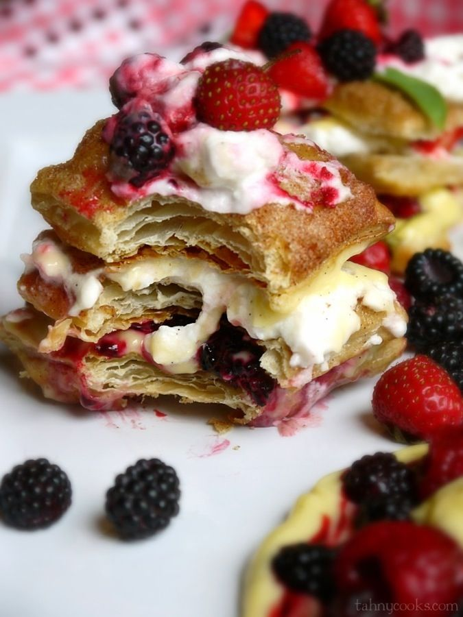 Mixed Berry Napoleon {featuring Blackcaps}