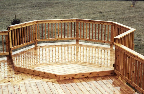 10 octagon deck addition firepit area ideas para casas for Octagon deck plans free