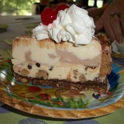 Chocolate Chip Cookie Ice Cream Cake | yummy foods & drinks! | Pinter ...