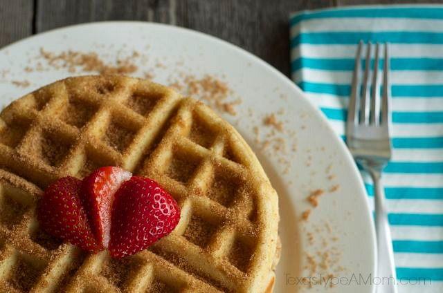 cinnamon sugar churro waffles | Recipe | Pinterest