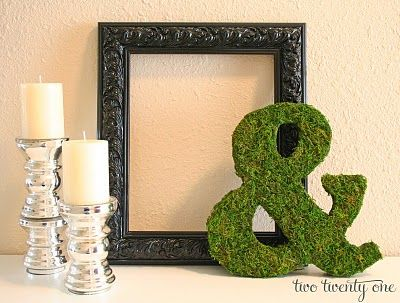 Mossy Ampersand Tutorial {&} {DIY}, DIY Handmade Gifts for the Holidays, Mohawk Homescapes