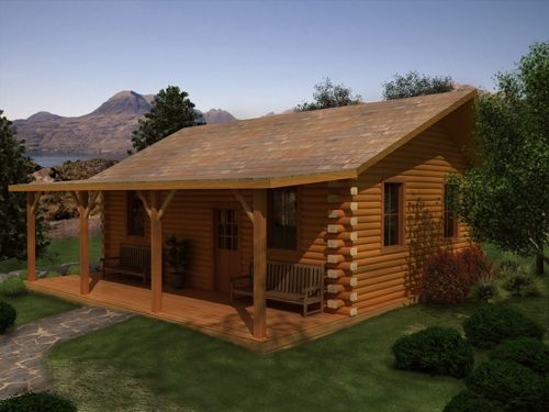 Cabin With Covered Porch Dream House Pinterest