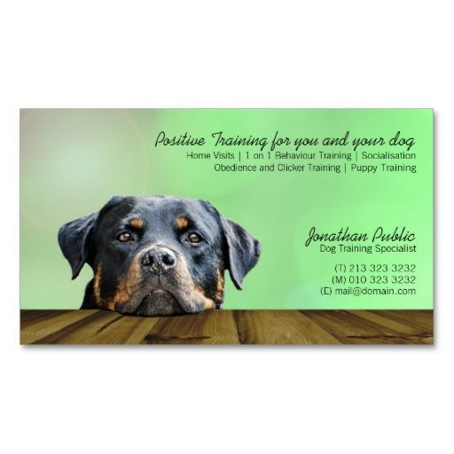 Dog trainer business cards for Dog trainer business card