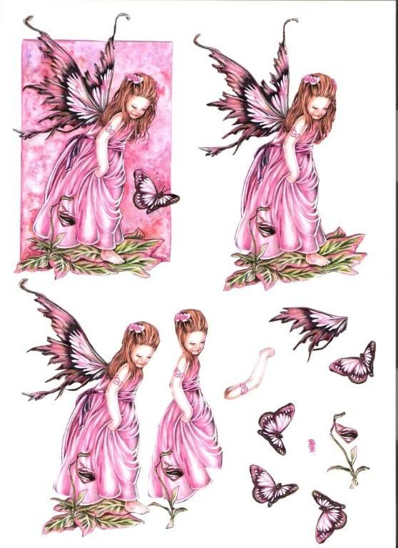 3d Fairy 3d Decoupage Pinterest