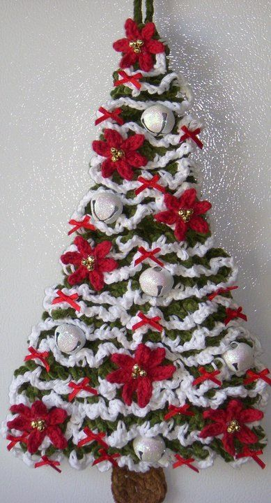 Crochet christmas tree prettiest crochet tree i ve ever seen would