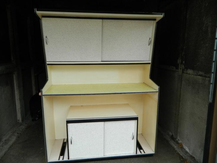 Vintage retro 1950 39 s 60 39 s kitchen dresser cabinet cupboard for 60s kitchen cabinets