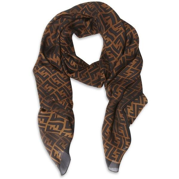 fendi stretched logo print scarf style