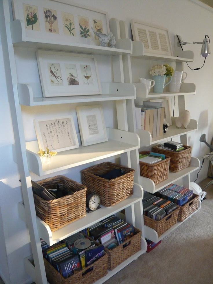 open shelving living room family room pinterest