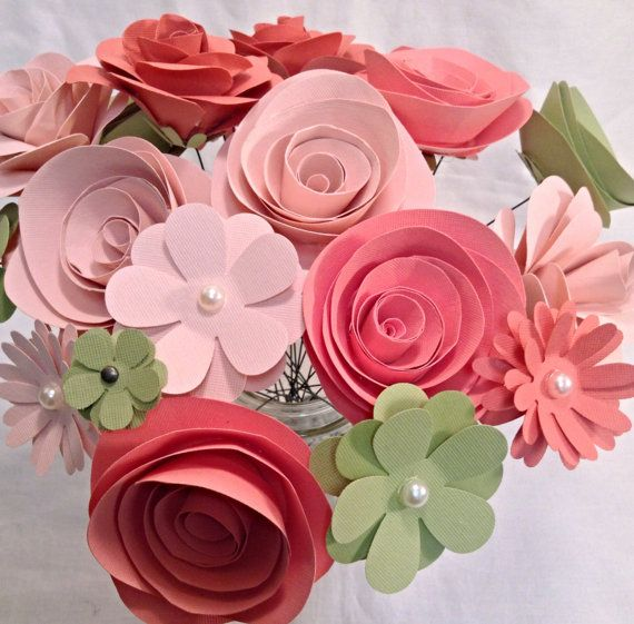 paper flower centerpieces wedding ideas pinterest