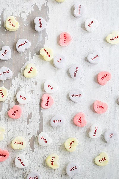 DIY Coconut Flavored Conversation Hearts - Personalize them to your ...