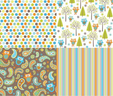 What_The_Hoot fabric by bzbdesigner on Spoonflower - custom fabric