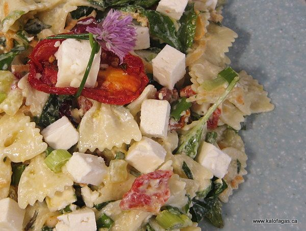 Pasta Salad With Feta, Sun-dried Tomato & Spinach - | Greek Cuisine ...