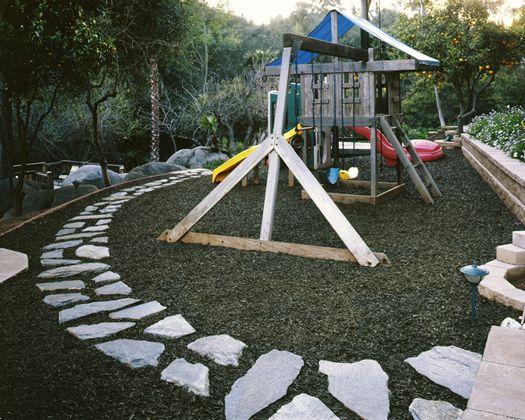 Mulch Backyard Playground : Backyard Playground Rubber Mulch ? Small Backyard Landscaping Ideas