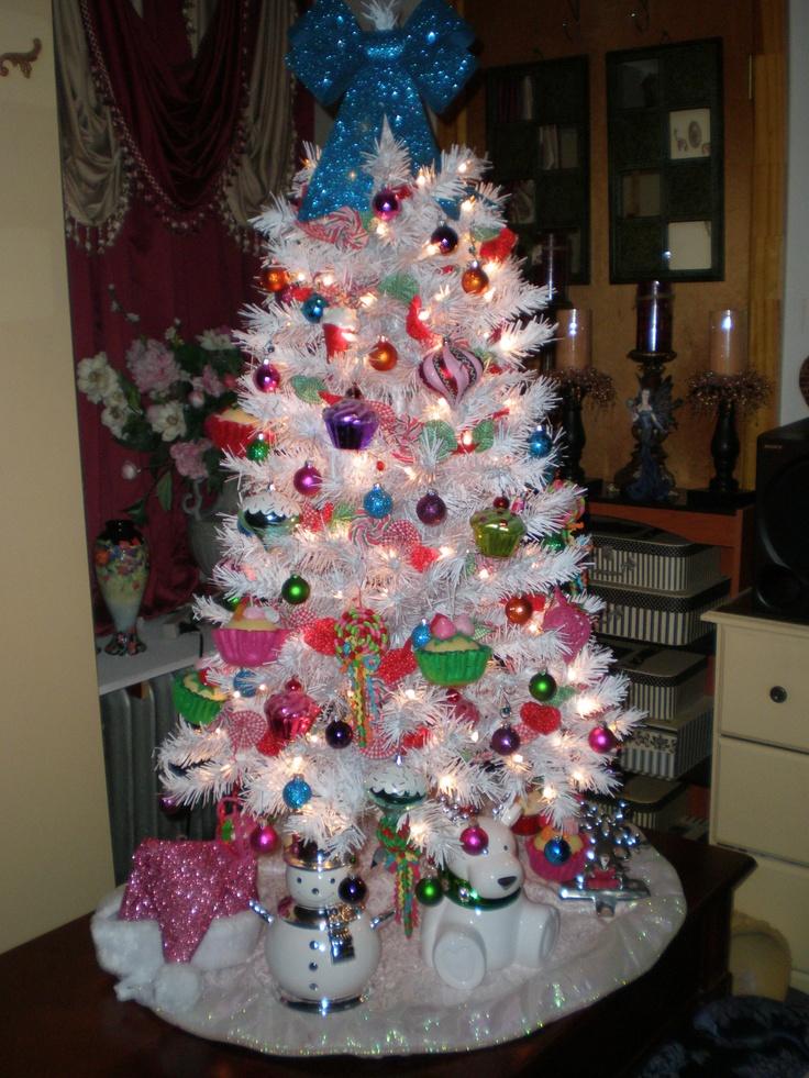 white christmas tree christmas present pinterest