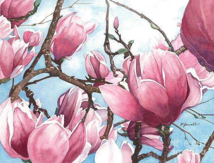 magnolia painting - photo #32