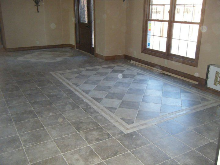 custom tile inlay for dining room table bluegrass