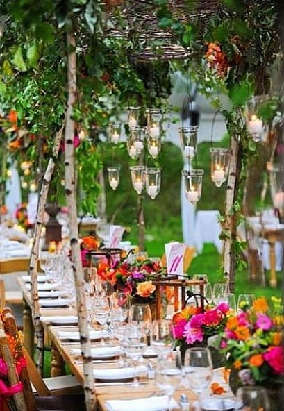 Cute outdoor party idea!  party time  Pinterest