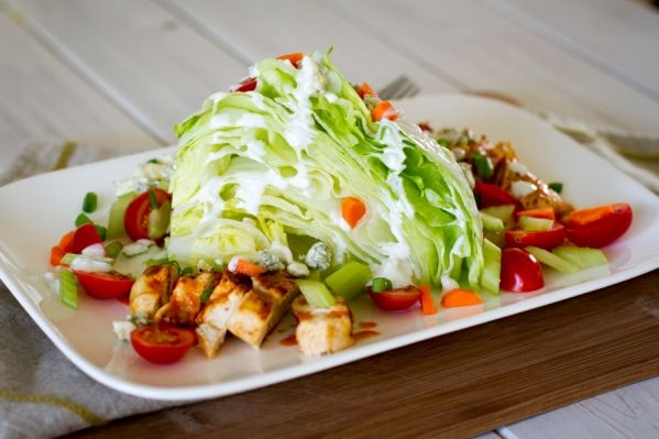 Lighter Buffalo Chicken Wedge Salad » | Healthy Recipes | Pinterest