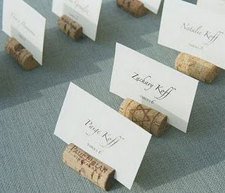 wine cork place card