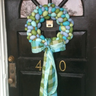 Easter egg wreath | Here Comes Peter Cottontail | Pinterest