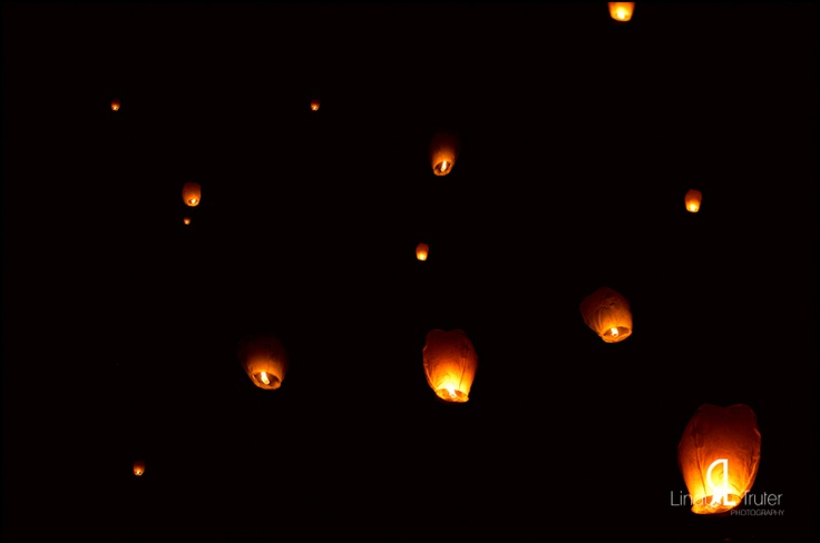Chinese lanterns in the night sky | Asia Beach Wedding ...
