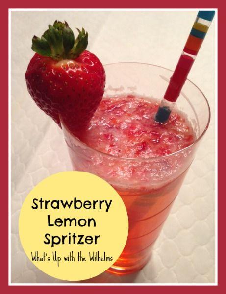 Strawberry Lemon Spritzer | Drinks | Pinterest