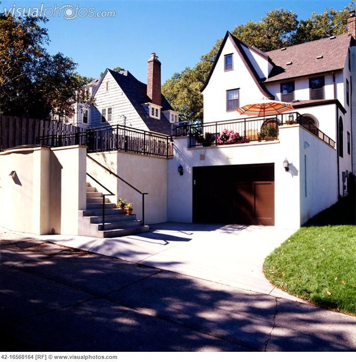 House with large deck above garage house pinterest for House above garage