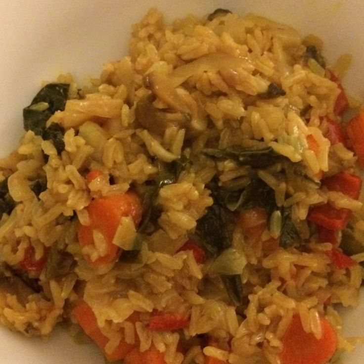 Indian-style Veggie Brown Rice Recipe | Just A Pinch Recipes