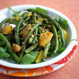 Roasted Green Bean Salad w Orange | Good grub: salads | Pinterest