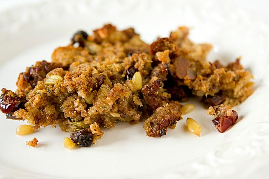 , fig and cranberry stuffing - you can never have too many stuffing ...