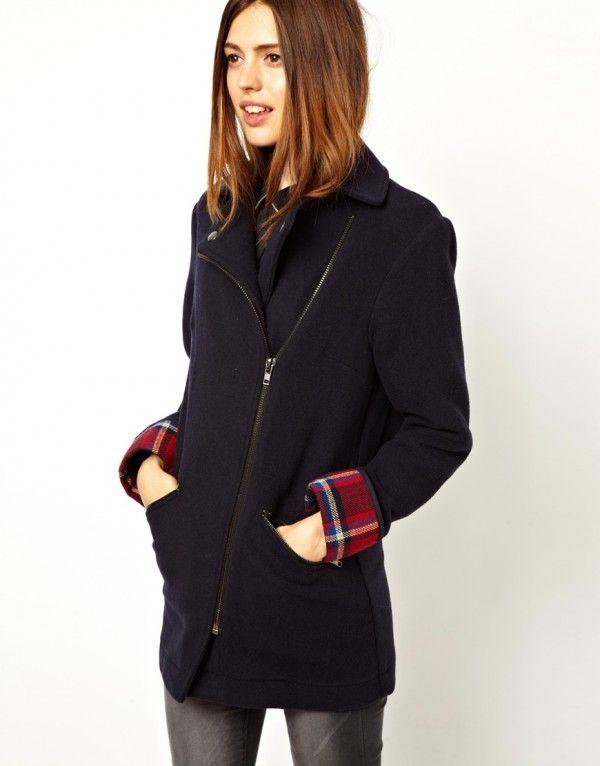 ASOS Bonded Check Biker Coat   Women's Fashion - Winter - Jacket / Co